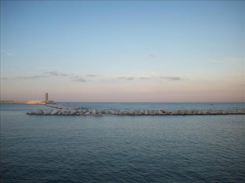 The Bari coast.
