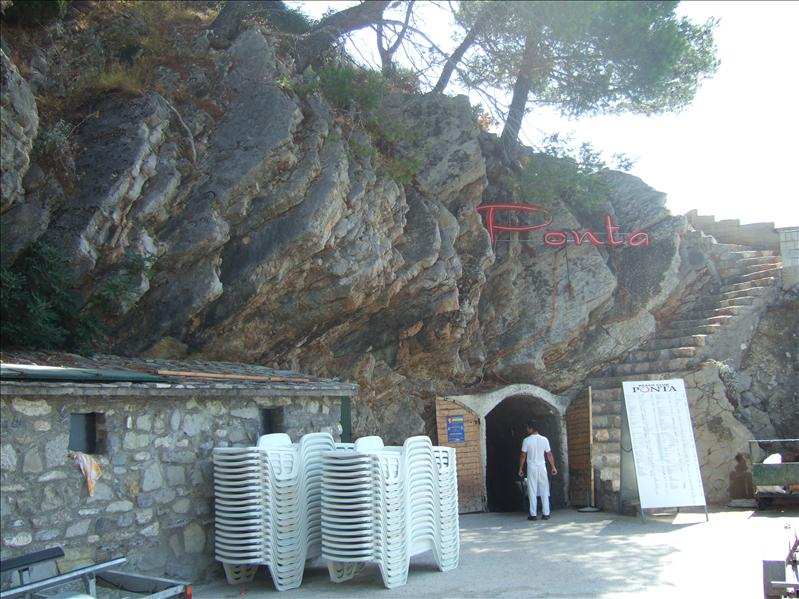 Entrance to Beach Club Ponta, Petrovac na Moru
