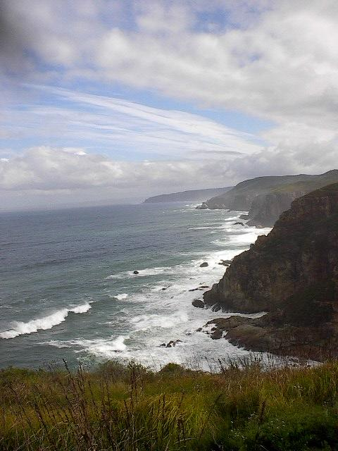 The legendary Otter Trail, a beautiful 5-day hike along one of the best pieces of coast-line in South Africa. The trail winds up and down (sea level to about 220m above) in the natural paradise of the Tsitsikamma National Park (Tsitsikamma - place of plenty water).