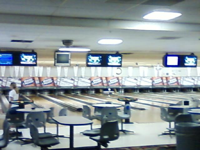 an automatic scoring bowling alley is wonderful