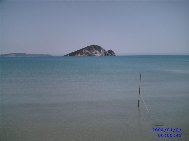 turtle island from kalamaki beach