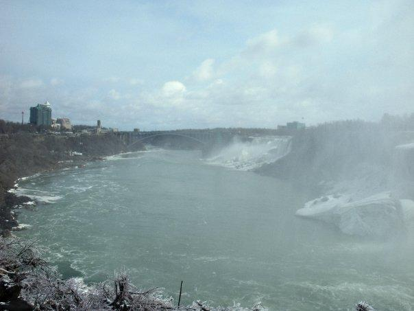 View towards, and including, the American Falls
