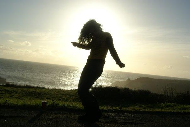 The Hair-in-the-sunset dance