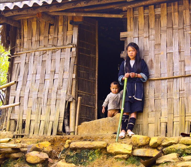 Kids in villages around Sapa