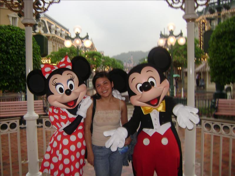 WIth Minnie and Mickey