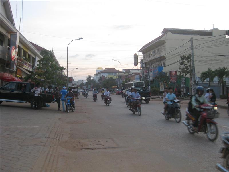 Mopeds in Siem Reap