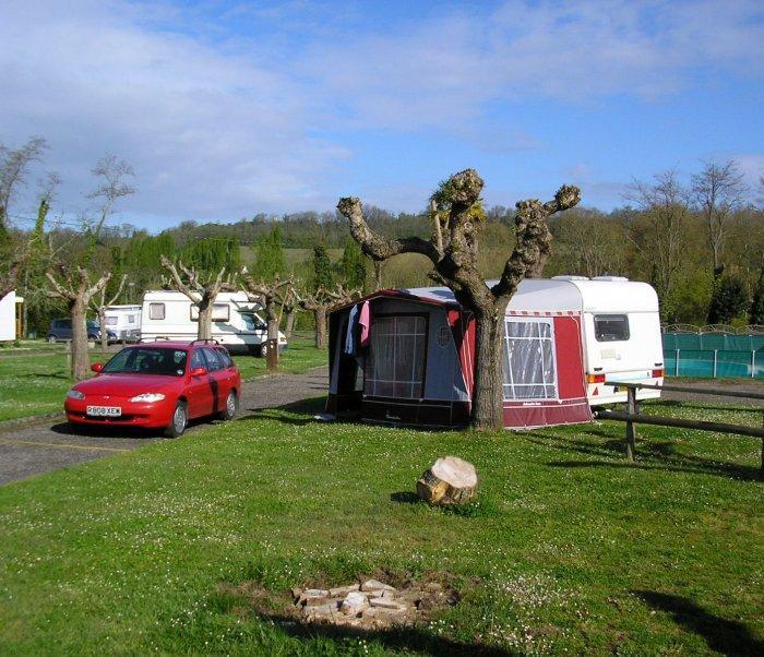 First campsite at Ste Foy la Grande.