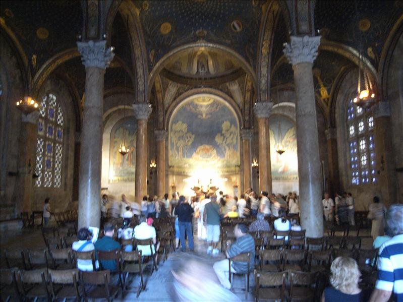 inside the church of of all nations ( the basilica of the agony)