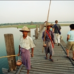 U BEIN BRIDGE. WORLDS LONGEST TEAK BRIDGE,BURMA