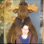 i made friends with a moose :D