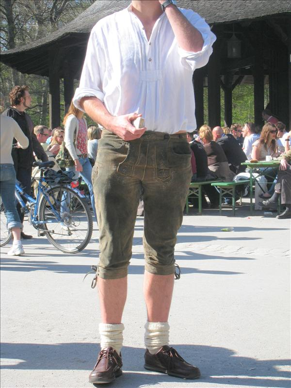 Some weirdo at the beer garden in Munich