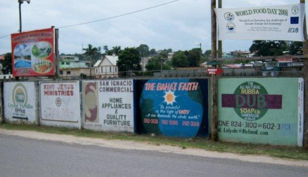 SAN IGNACIO, BELIZE - ROADSIDE ADS