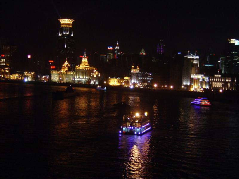 """THE BUND "" (Wai Tan ) of SHANGHAI at night-----浦 西 上 海 灘."