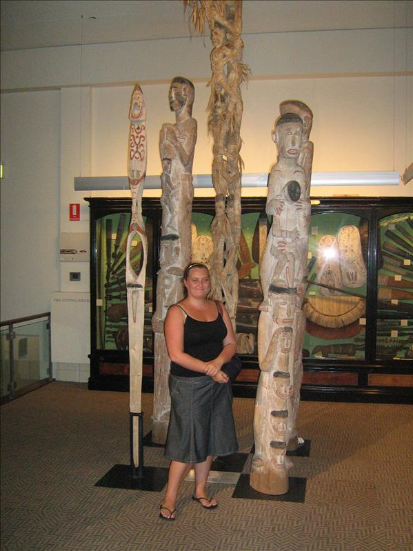 Me with some funny Aboriginal things!