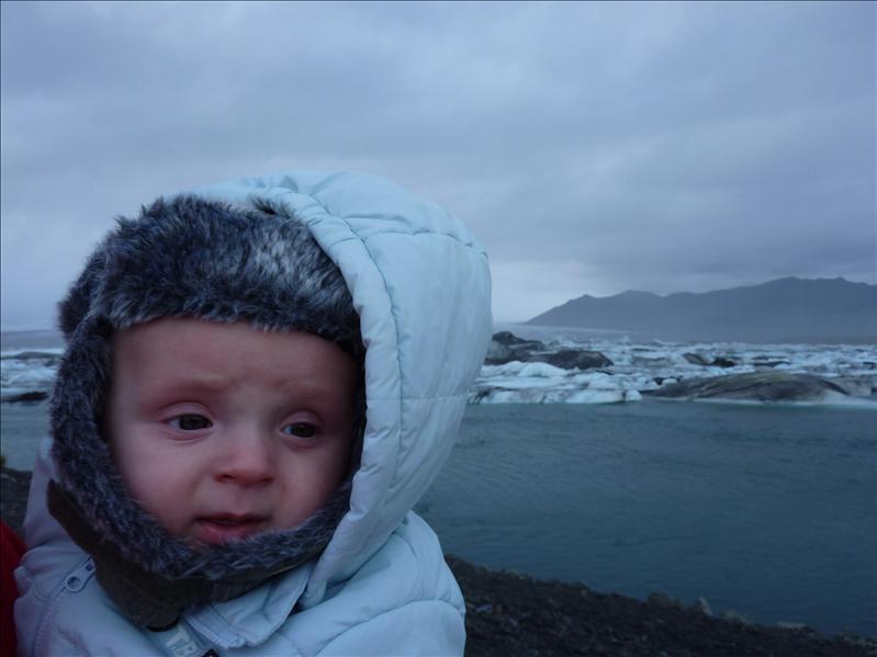 Kajus prie ledyno