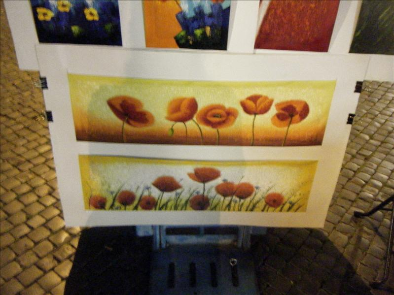 pretty artwork in the piazza