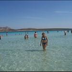 the sea at la Pelosa