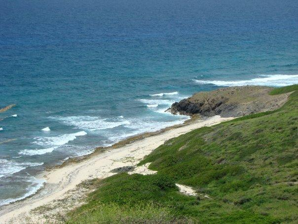 There's quite a downhill hike to this secluded beach
