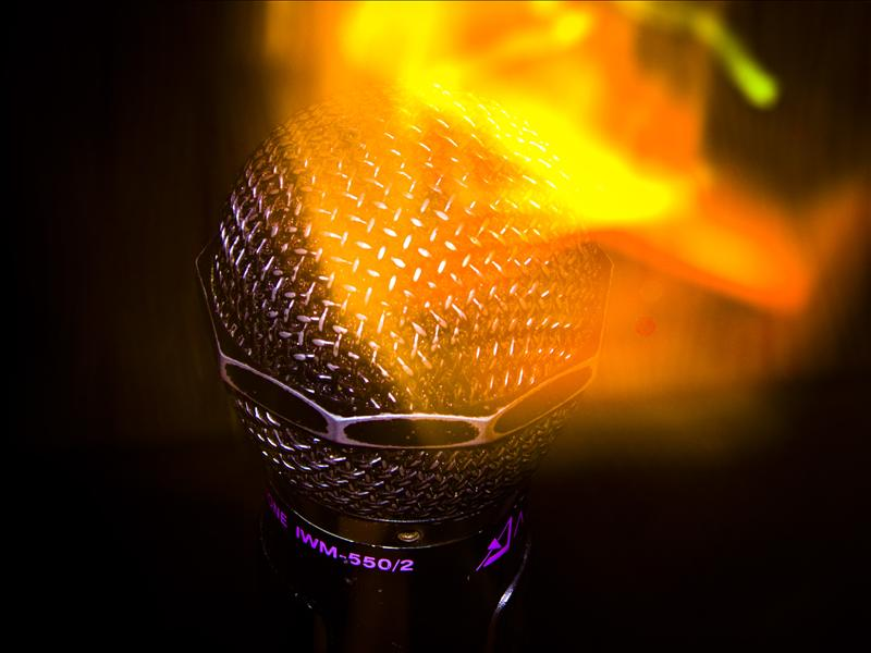 Microphone of fire!