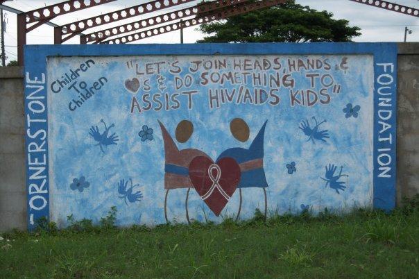 SAN IGNACIO, BELIZE - AIDS SIGN