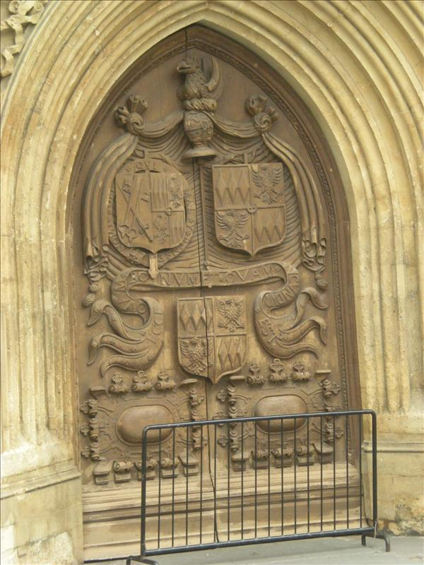 The door of Bath Abbey - 27th May