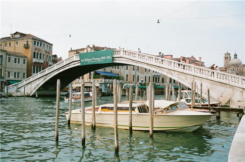 "Ponte degli Scalzi (or Ponte dei Scalzi), literally, ""bridge of the barefoot"", is one of only four bridges in Venice to span the Grand Canal"