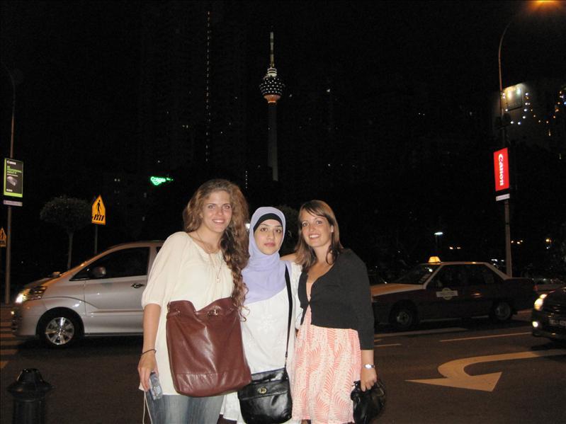 Erica, Binish og mig selv i KL by night