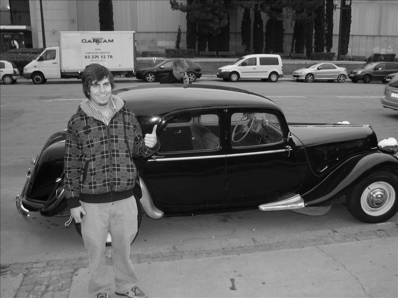 Ian in front of a REALLY cool car