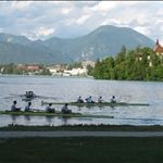 .. overlooking the lake which is an International rowing centre.