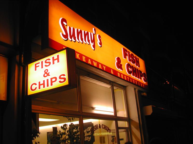 Sunny's fish and chips Bournemouth, England
