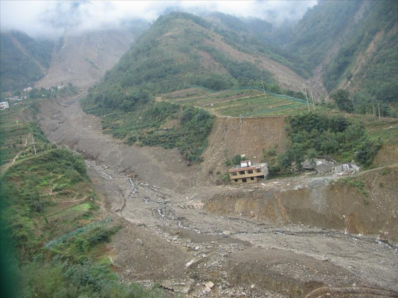 debris flow after 2008.9.24