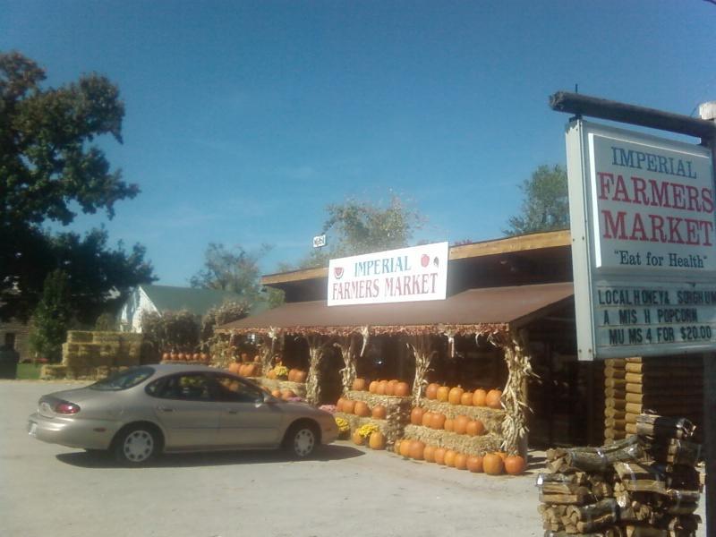 little log cabin Farmers Market