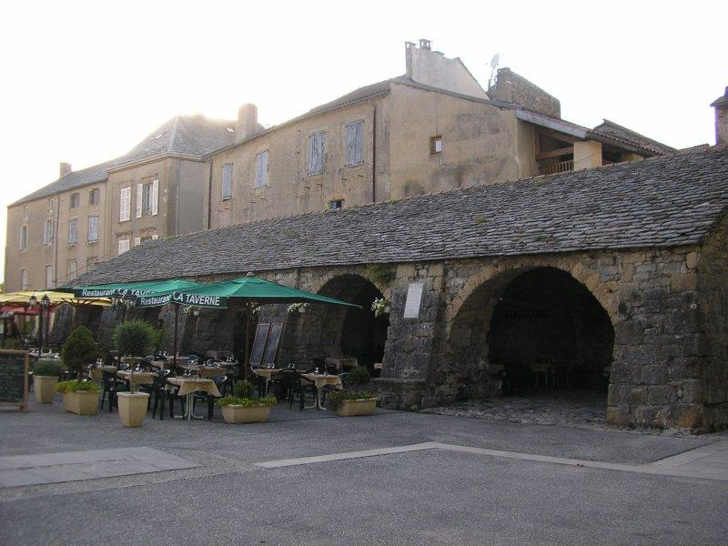 Old covered market at Nant.