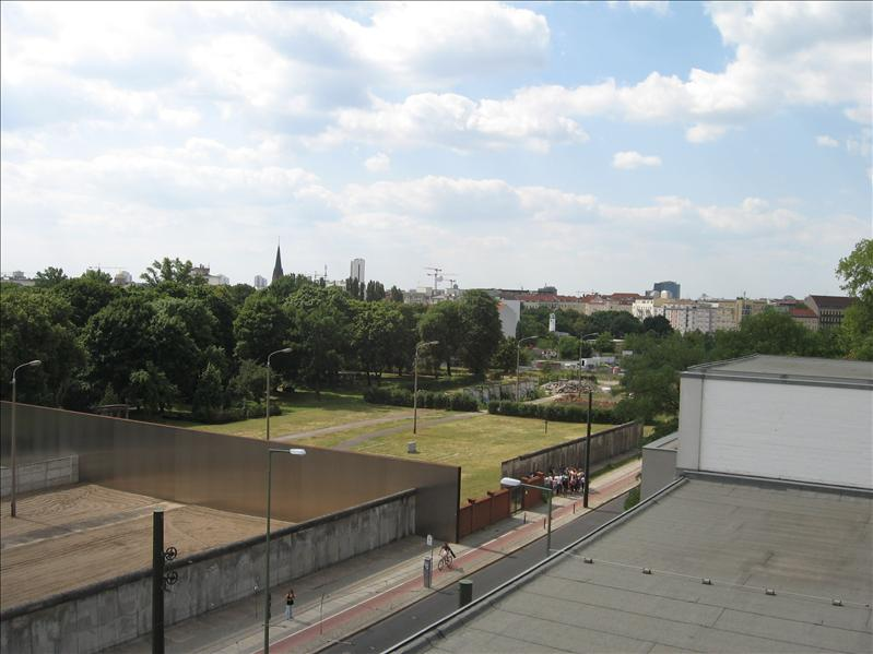 View from the top of the Museum on the Berlin Wall