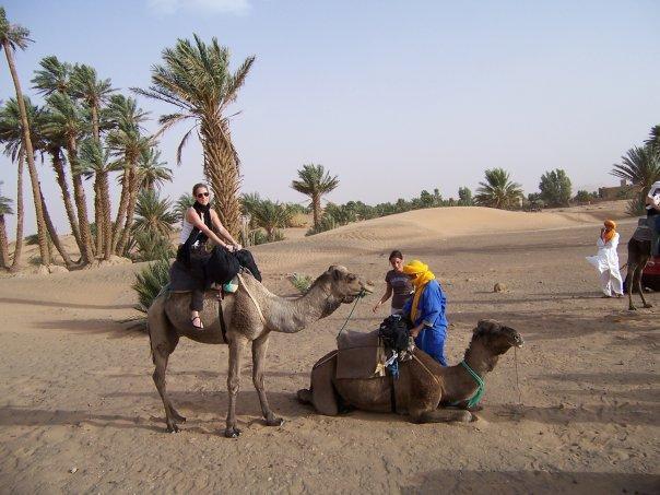 CAMEL RIDING AT MERZOUGA