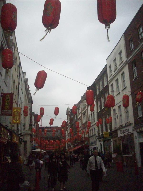 Chinatown : Red lanterns swingin' in the wind.