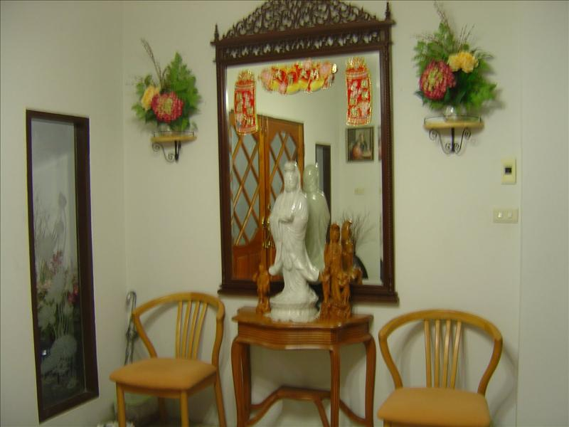 Shrine at entrance of host's house