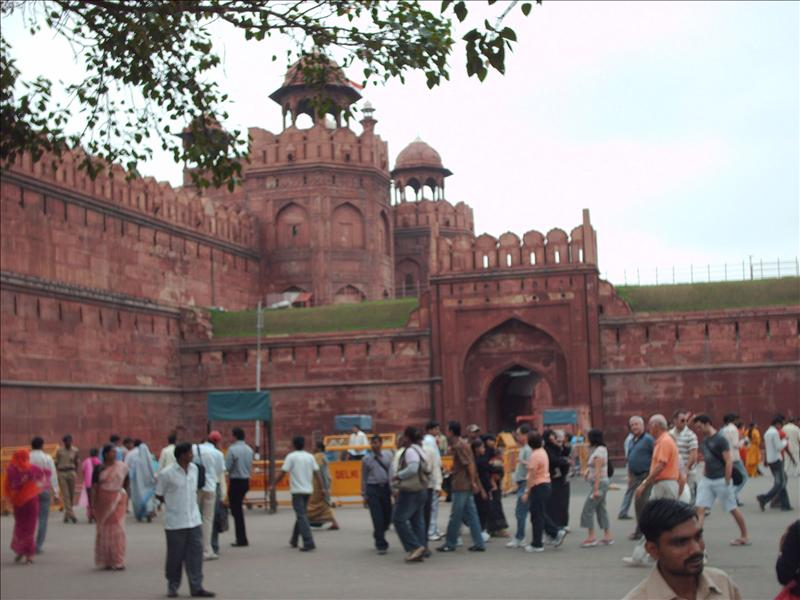 Outside Red fort