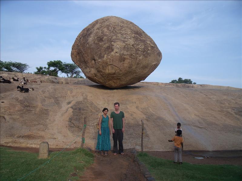 Krishna's butterball, Mahabalapuram.