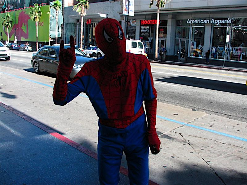 Spiderman! at Grumman's Chinese Theater in Hollywood
