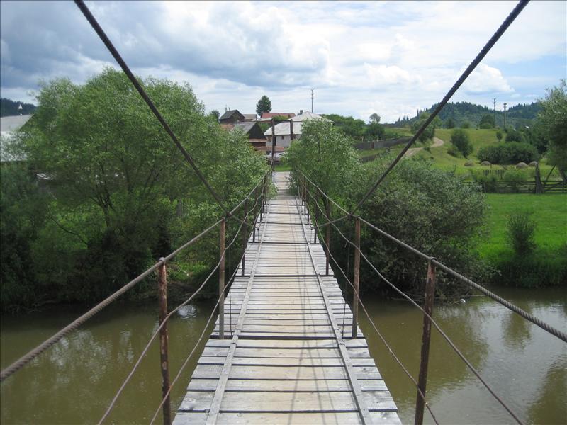 Gala Bridge over Mures River