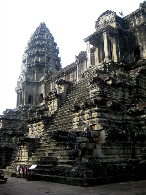 Angkor Wat was built as a funerary temple for Suryavarman II in the 12th century.