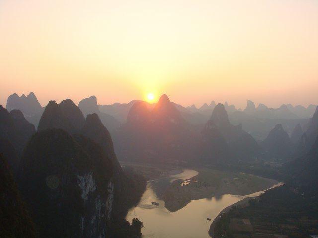 Sunset in Li River