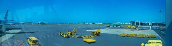08/27 - on the way to jeju -   welcome to jeju international airport