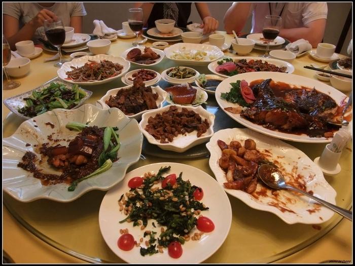 西安交大為我們準備的接風宴