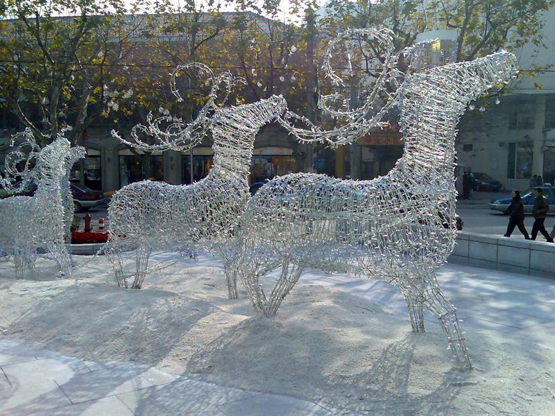 近看恒隆的圣诞灯饰