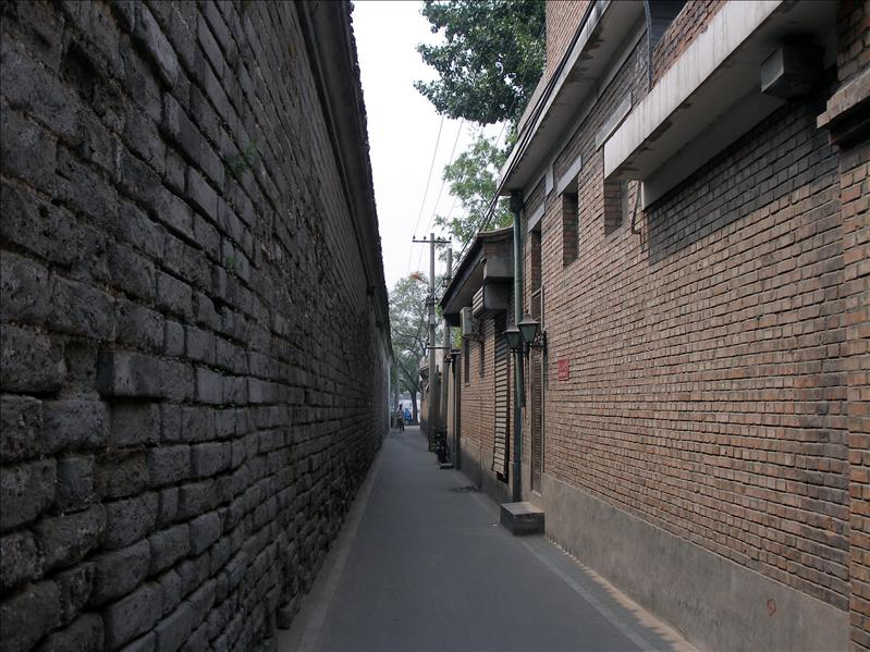 Very well kept Hutongs alley.