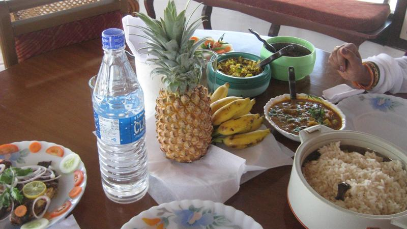 Our Lunch in Houseboat..