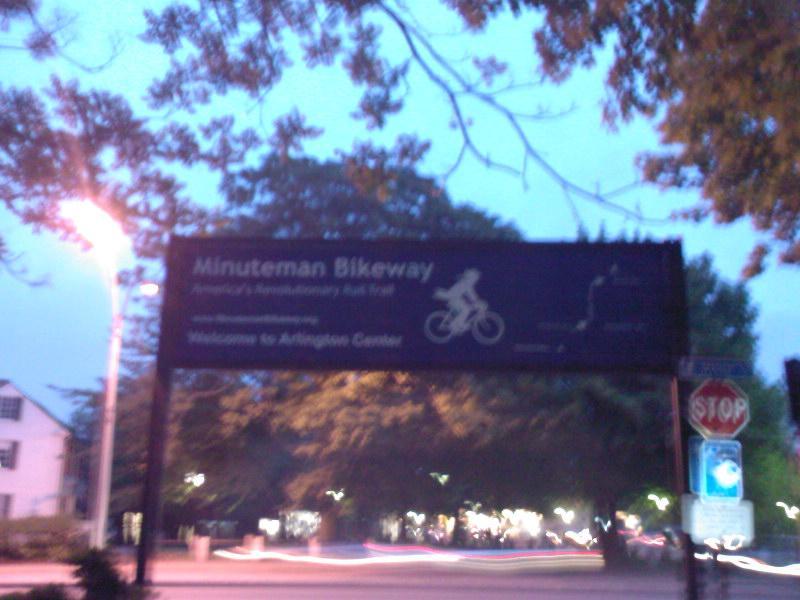 minuteman bikeway, welke ik iedere dag op en af fiets