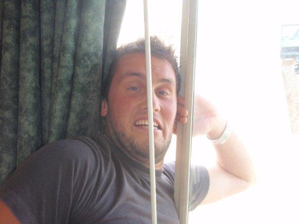 Me stuck in the hotel window